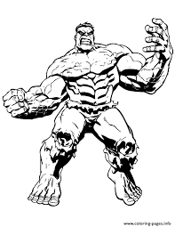 Big Muscle Incredible Hulk Coloring Pages Printable
