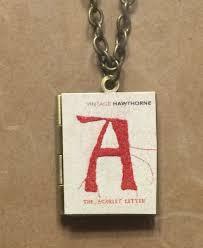 Scarlet Letter Book Cover Book Locket The Scarlet Letter