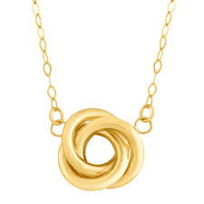 details about eternity gold love knot necklace in 14k gold