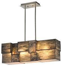 elk lighting cubist 1 tier chandelier brushed nickel