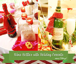 How To Decorate A Wine Bottle For Christmas How to Decorate Wine Bottles and Drinks for the Holidays 60