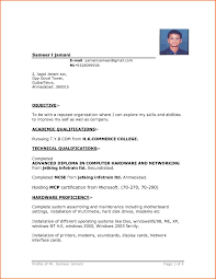 Resume Formats Word Stunning Simple Resume Format Download In Ms Word Template Microsoft Word