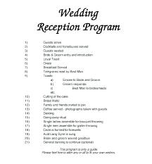 Wedding Ceremony Templates Free Wedding Ceremony Layout Template