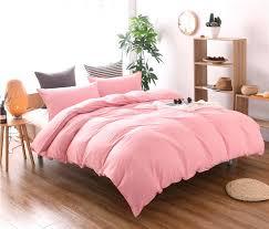 sets california king 3pcs hot home textile solid color super soft pink duvet cover pillowcase set queen king
