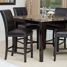 elegant dining room design with crown mark pompeii faux marble top counter height kitchen table
