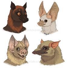 bat faces furries furever art book by katiehofgard