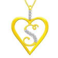 alphabet s diamond pendant in sterling silver by sparkles silver pendants home18