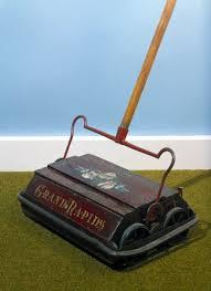 carpet sweeper. \u0027grand rapids\u0027 bisell carpet sweeper, 1895. sweeper
