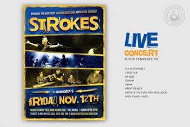 Concert Flyer Templates Free Live Concert Flyer Template V11 Free Posters Design For Photoshop