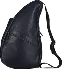 healthy back bag leather medium navy 5304 nv