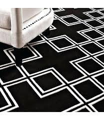 black and white geometric rug wool