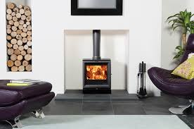 stovax view 5 multi fuel stove burning logs