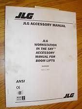 jlg heavy equipment manuals books for boom lift jlg work station in the sky accessory manual generator welder service 3124242