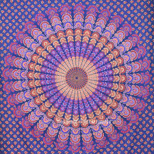 Tapestry Bedroom Cool Blue Mandala Tapestry Hippie College Dorm And Bedroom Wall