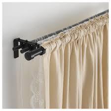 rÄcka hugad triple curtain rod combination black min length 82 5