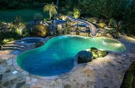 inground pools with waterslides. Contemporary With Water Slide For Inground Pool Nothing Like Installing A Concrete Swimming  To One Up Your Intended Inground Pools With Waterslides R
