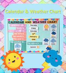 Date Chart For Classroom Calendar And Weather Chart Classroom Worksheets Teaching