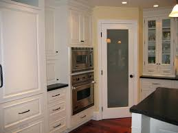 pantry frosted glass door white kitchen design with tall corner kitchen pantry cabinet with frosted glass