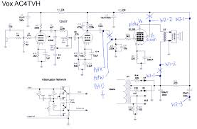 dan becker s power scaled vox ac4 amplifier build power scaled vox ac4tvh schematic
