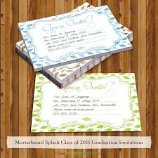 mortarboard splash 2016 graduation invites