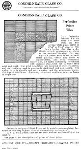 1914 con neale glass co catalogue page for perfection prism tiles