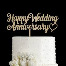 Jual Happy Wedding Anniversary Cake Topper Acrylic Kota Tangerang