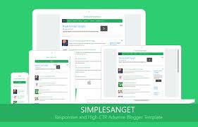Blogger Mobile Template Simplesanget High Ctr Adsense Free Blogger Template