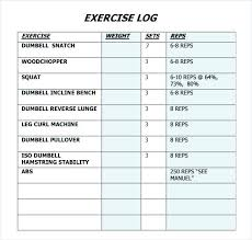 Exercise Logs Template Staff Record Template Camp Employee Training Log Free Excel Letter