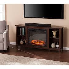southern enterprises electric fireplace espresso tv stand
