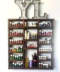 essential oil rack shelf storage nail polish wood