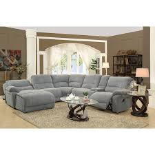 reclining sectional microfiber. Modren Reclining Grey Microfiber Reclining Sectional With Storage More With R