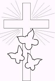 Free Preschool Flower Coloring Pages Crosses Sunday School