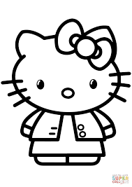 Cute Hello Kitty Coloring Pages With Gambar Page Free Printable
