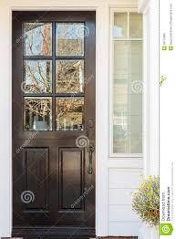 black front door handles. Detail Of Black Front Door To A Family Home Handles