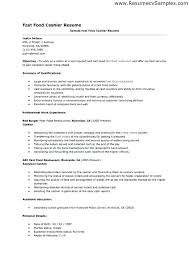Cashier Example Resume Cashier Resume Sample Cashier Resume