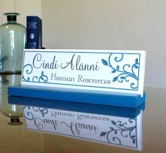 desk name plate and accessory personalized wood desk plaque unique hand painted office desk sign by