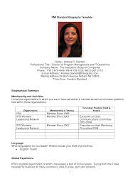 Resume Bio Example 3 Sample Personal Biography Template All File How To  Write A
