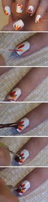 Easy Fall Nail Designs For Beginners Turkey Feathers Cute Thanksgiving Nail Art Designs For
