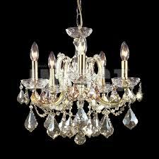 james moder 40255gl2gt crystal maria theresa impact 5 light mini chandelier golden teak