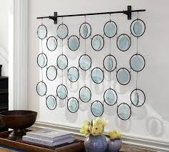 amazing home design elegant glass wall decor in emery recycled art pottery barn for modern