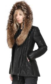 more views mackage ingrid las leather down filled jacket