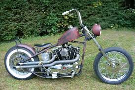 1972 harley sportster ironhead bobber motorcycle with paughco