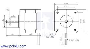 Electric Motor Shaft Size Chart Stepper Motor Bipolar 200 Steps Rev 42 X 38mm 2 8v 1 7 A Phase
