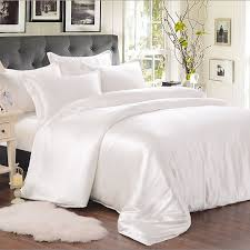 white silk bed linen sheet set_white white bed sheets1 white