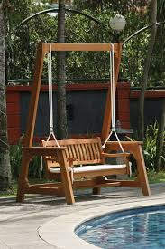 hardwood garden swing bench garden swing bench