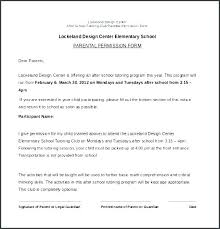 Sample Permission Slips For Field Trips Parent Permission Slip Template Metabots Co