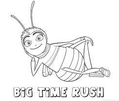 Big Time Rush Bee Movie Naam Kleurplaat