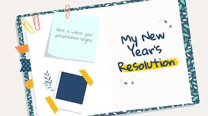 My <b>New Year's</b> Resolution Google Slides & PowerPoint <b>template</b>