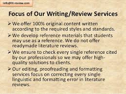 Affordable Literature Review Services