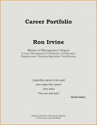 Resume Portfolio Cover Page Examples Unique 8 Career Portfolio Cover Page